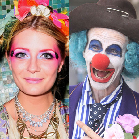 Celebrity make up fails: Clowns