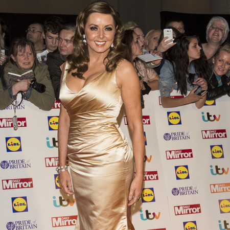 Pride of Britain Awards 2013 Carol Vorderman gold dress