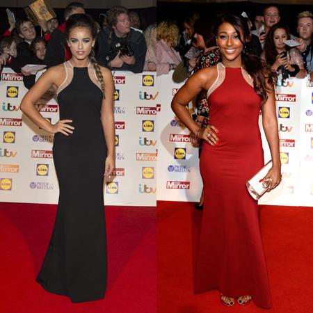 Pride Of Britain Awards 2013 - Gerogia May Foote - Alexandra Burke - fashion fight - Celebrity Fashion - handbag.com