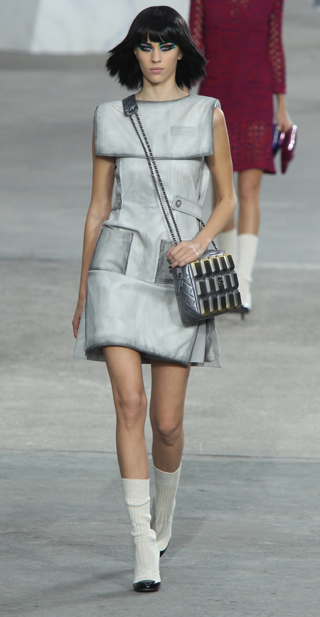 Alexa Chung - Chanel Paris Fashion Week SS14 show - handbag.com