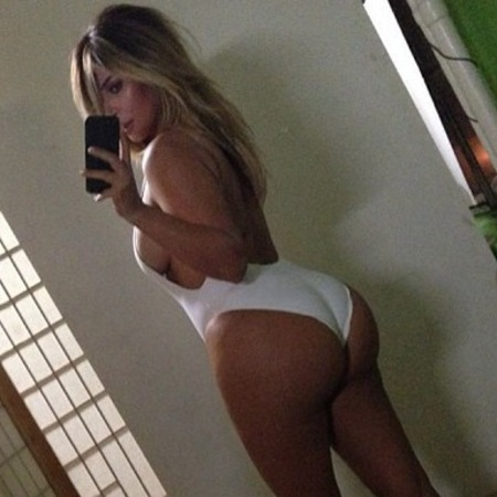Kim Kardashian's bum on Instagram