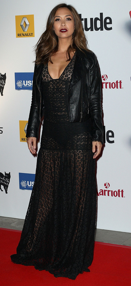Myleene Klass' sheer dress