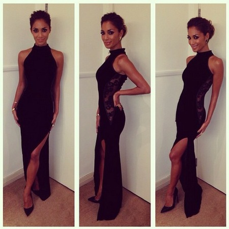 Nicole Scherzinger - X Factor fashion - black dress - handbag.com