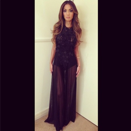 Nicole Scherzinger's sheer X Factor dress