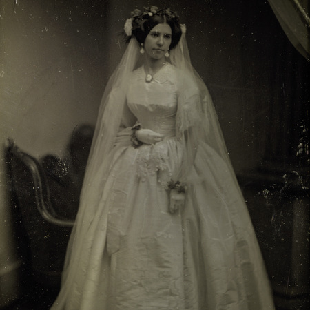 Woman in wedding dress from 1800s - weddings - handbag.com