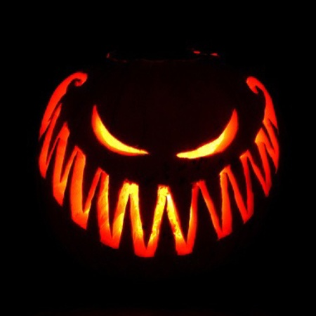 Pumpkin carving that says how we're feeling