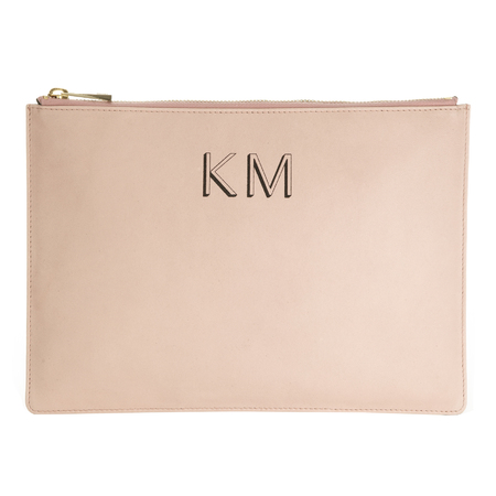 Whistles personalised monogram clutch bag