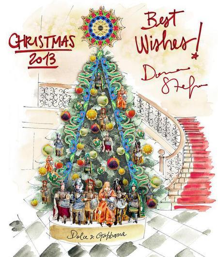 Dolce and Gabbana christmas tree - claridges - handbag