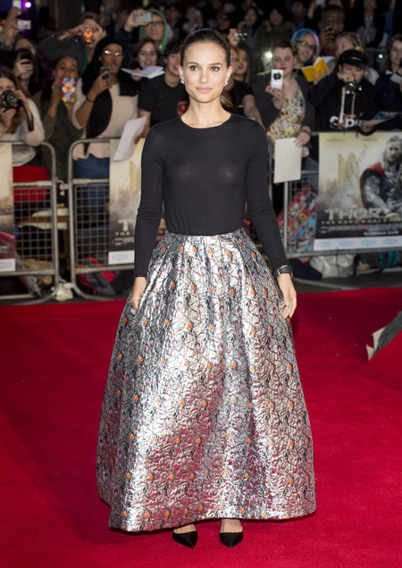 Natalie Portman - Thor Premiere - Dior skirt - love of hate - handbag.com