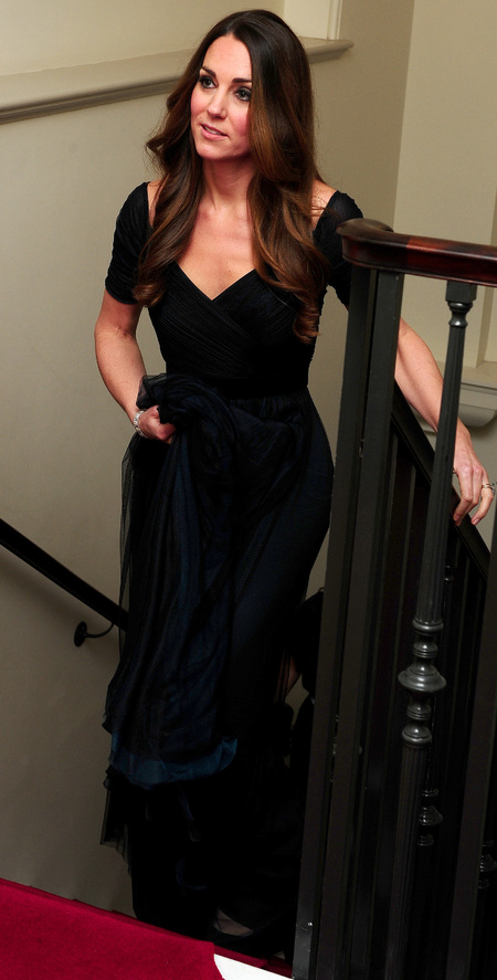 kate middleton - blue jenny packham dress - 100 women in hedge funds dinner - style icon - handbag.com