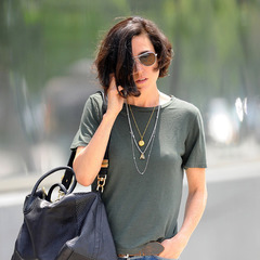 Jennifer Connelly - new york sighting - short hair - handbag