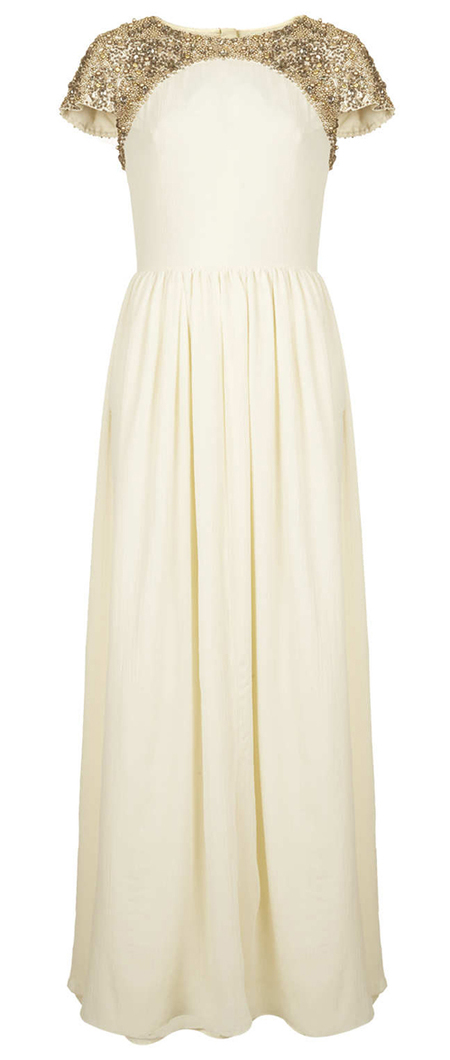 cream and gold maxi dress - topshop - handbag.com