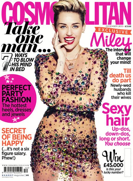 Miley Cyrus - cosmopolitan - cover -  handbag.com