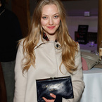 Amanda Seyfried says it with a clutch bag