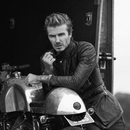 David Beckham - belstaff advert - twitter - leather - campaign - handbag.com