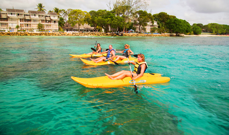 Club Barbados Travel Review - kayaking - winter sun travel ideas - Handbag.com