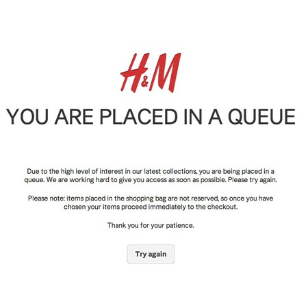 h&m isabel marant collection - buy online queue scree - ebay shoppers - handbag.com