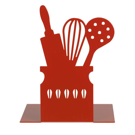Kitchen utensil bookend