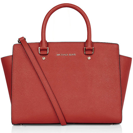 michael kors - red selma satchel handbag - harrods - christmas gift ideas 2013 - handbag.com