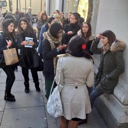 people queuing to shop Isabel Marant for H&M - designer high street collaboration - november 2013 - handbag.com