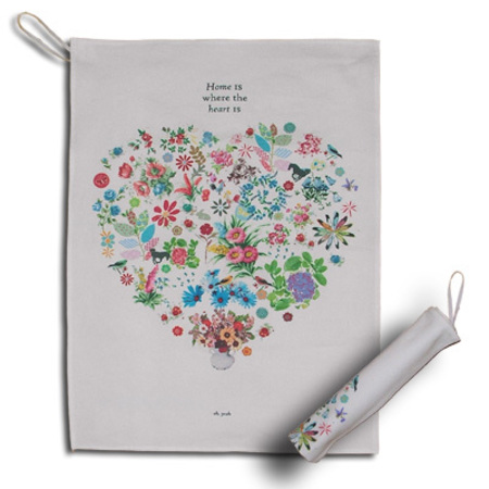 Rosablue Home Is Where The Heart Is Tea Towel