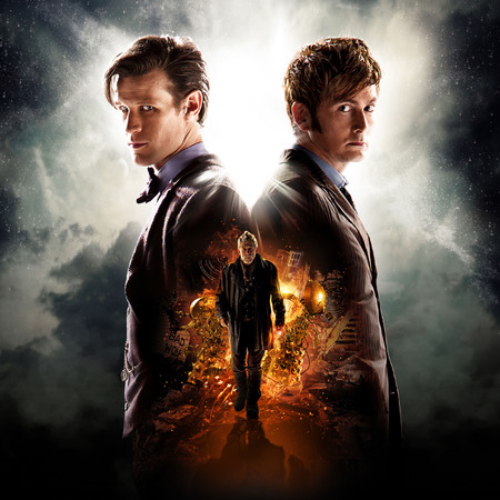 Doctor Who - The Day of the Doctor - David Tennant and Matt Smith - BBC - handbag.com