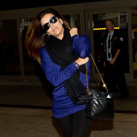 Eva Longoria - airport style - chanel battle - kristen cavallari - handbag.com