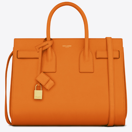 saint laurent Sac De Jour bag - new yves saint laurent handbag - ysl - orange leather bag - handbag.com