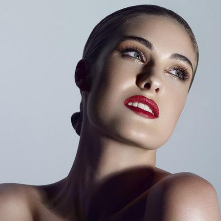 the face uk eleanor - red lipstick max factor shoot - team caroline 2013 - handbag.com