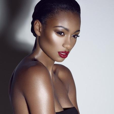 the face uk nadine - red lipstick max factor shoot - team caroline - handbag.com