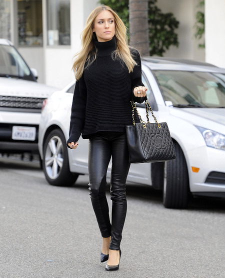 Kristen Cavallari - la sighting - chanel battle - eva longoria - handbag.com