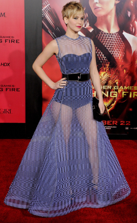 Jennifer Lawrence's sheer Dior dress