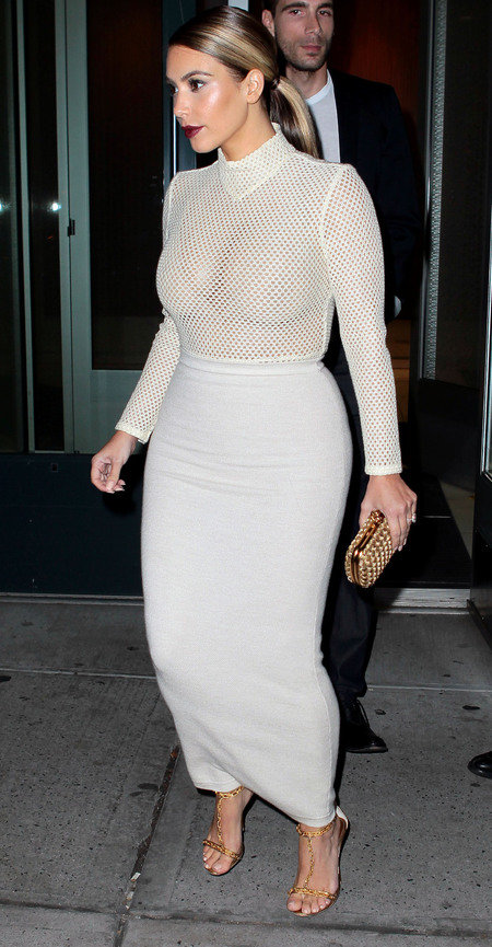 Kim Kardashian's sheer top