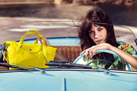 alexa chung new face of longchamp - longchamp handbags - Veau Foulonne Shoulder Bag yellow - handbag.com