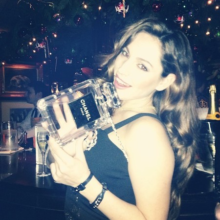 kelly brook - chanel handbag - perfume bag - sunday times style party - celebrity pictures - instagram - handbag.com