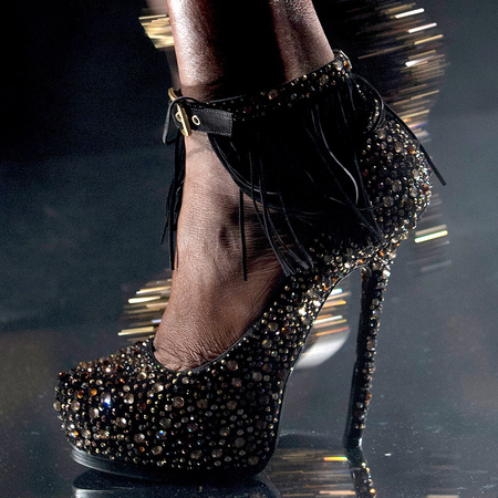 Philipp Plein sparkly high heel - autumn winter 2013 catwalk show - handbag.com