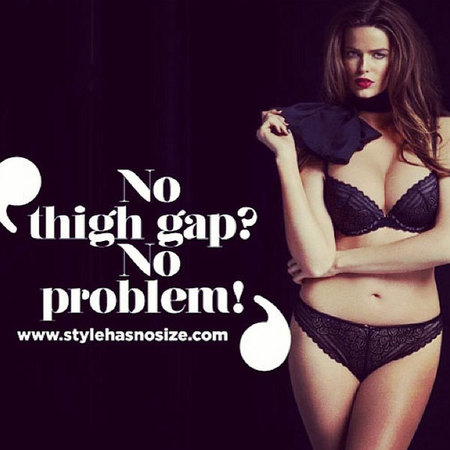 Robyn Lawley's Chantelle Lingerie campaign - skinny versus curvy lingerie models - handbagcom