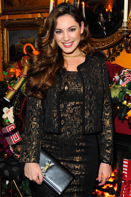 Kelly Brook - ysl clutch bag - chanel perfume bag - sunday times style party - celebrity pictures - handbag.com