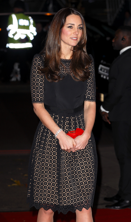 Kate Middleton - Sports Aid ball - alexander mcqueen - red clutch bag - handbag.com