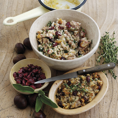 Easy cranberry and chestnut stuffing recipe for Christmas dinner - christmas recipe - winter - food - recipes - handbag.com