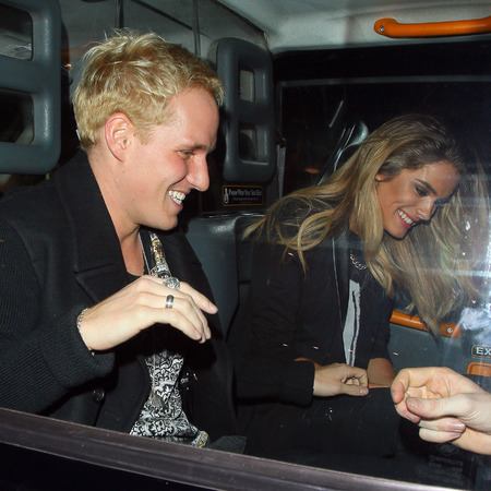 Jamie Laing and mystery girl leaving club - lucy watson who - made in chelsea - handbag.com