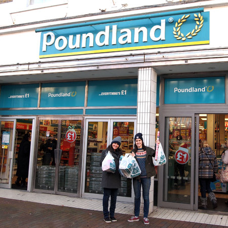 Poundland christmas challenge - christmas dinner for under £30 - friendmas - christmas food - food shopping - shopping at Poundland- budget - food news  - handbag.com