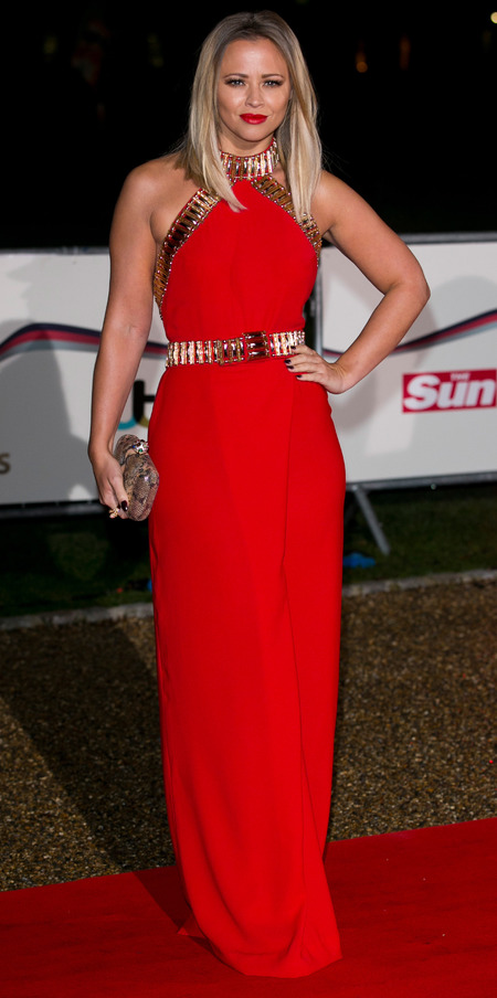 Kimberley Walsh does red and gold