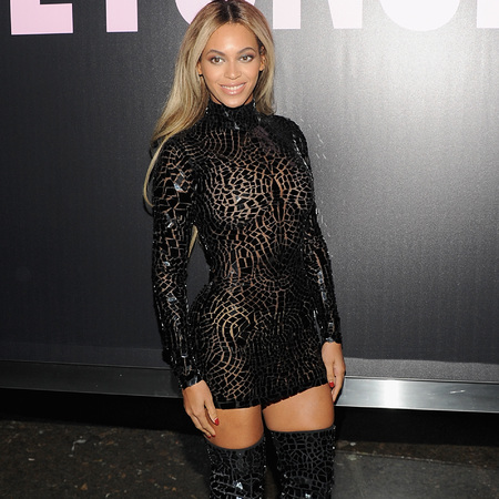 beyonce in sexy sheer black dress - new album beyonce - lbd celebrity trend - handbag.com