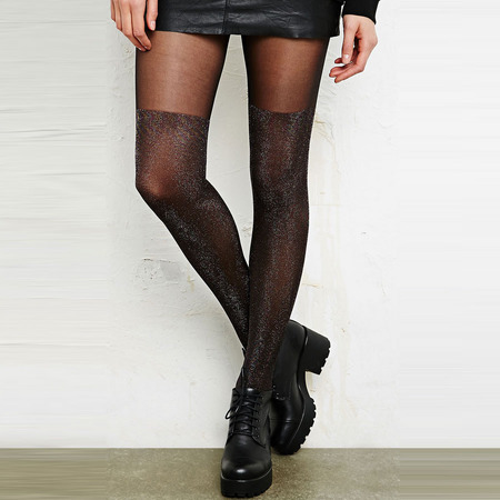 Urban Outfitters Lurex Sheer Tights