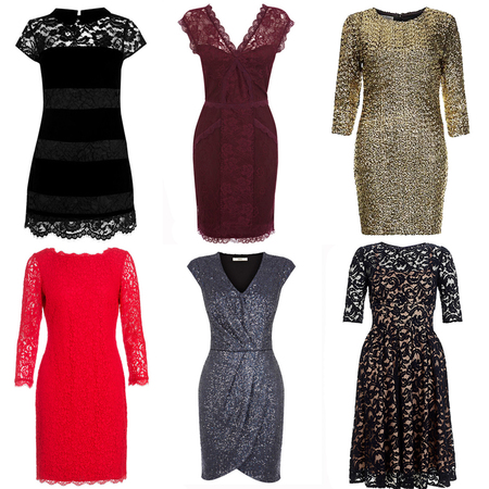 christmas party dresses - last minute party dress shopping - lace sequin lbd - handbag.com