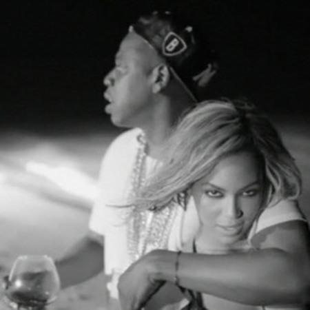 Beyoncé and Jay-Z take on Kim Kardashian and Katy Perry and John Mayer in power couple video - music videos - Beyoncé visual album - Drunk in Love - music video still - celebrity relationships - life news - handbag.com