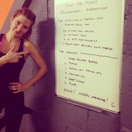 Millie Mackintosh 'fight the turkey' Christmas workout revealed - Professor Green - Christmas weight gain - celebrity diet and fitness -  workout plan - handbag.com