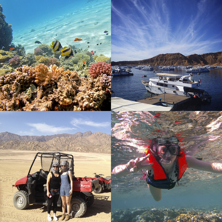 snorkelling in sharm el sheik - desert quad biking in egypt - winter sun holiday - handbag.com