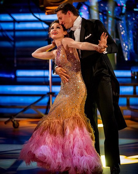 Sophie Ellis Bextor - favourite outfit - strictly come dancing - sequin and pink feather dress - handbag.com